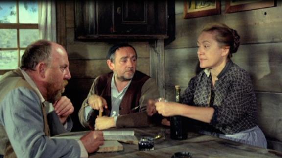 er Dorngrütbauer (Max Haufler), Kellerjoggi (Ruedi Walter) und die Dorngrütbäuerin (Margrit Rainer) (v.l.n.r.)